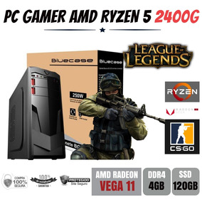Computador Gamer Amd Ryzen 5 2400g 3.6ghz Ddr4 Ssd 120gb