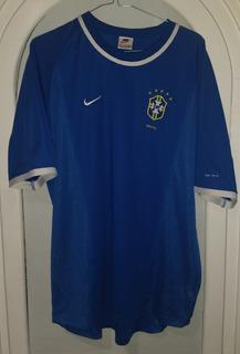 Jersey Seleccion De Brasil Año 1999 Talla Xl Nike