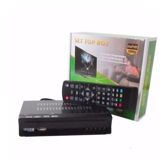 Conversor Digital De Tv Set Top Box Hd C/ Gravador Isdbt
