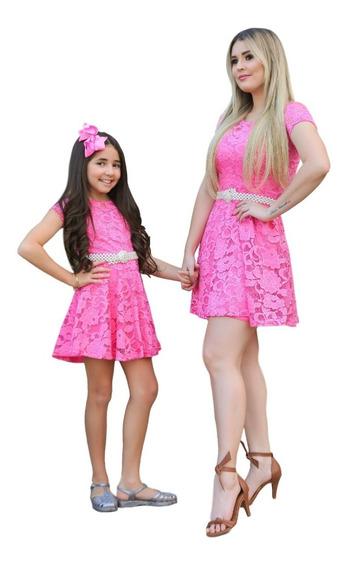 Vestidos Mãe E Filha Rodado Em Renda 1 Mãe + 2 Filhas