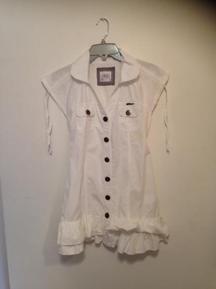 Vestido Marca M6t Talla 16 Blanco 100% Algodón