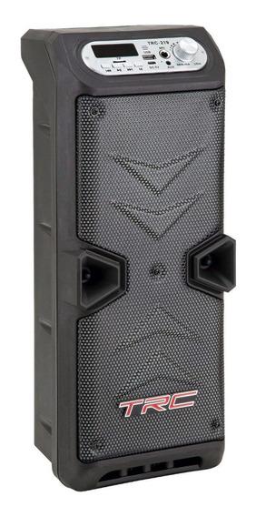 Caixa De Som Portátil Trc 219 Bluetooth 35w Amplificada Led