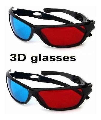 2x Gafas Rojo Azul 3d Dimensional Anaglifos Gear Kamelia.me