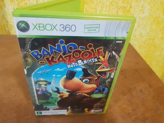 Banjo Kazooie Nuts E Bolts Usado Manuais Xbox 360 Midia Fisi