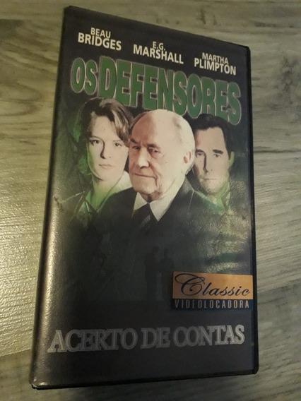 Filme Vhs Os Defensores - Acerto De Contas