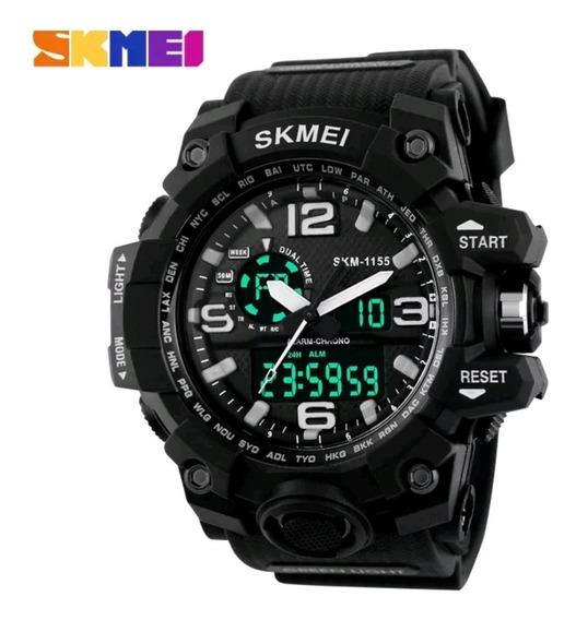 Relógio Masculino Digital/analógico Skmei1155 Sport Original