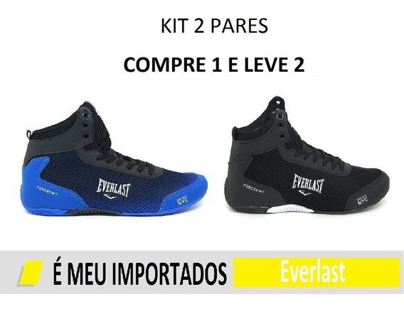 Kit 2 Pares Tênis Bota Masculino Promoção