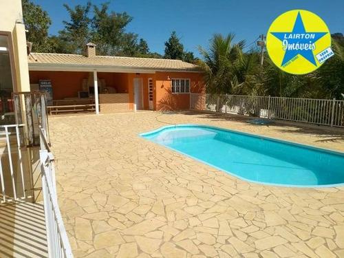 Chácara Com 3 Dormitórios À Venda, 4000 M² Por R$ 1.200.000,00 - Laranjal - Atibaia/sp - Ch1230