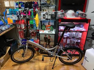 Bicicleta Dobravel Durban Rio 20 6v Mostruário C/ Bagageiro