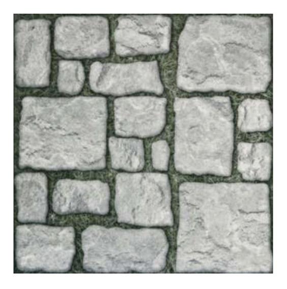 Cerámica Piso Y Pared Imitación Piedra Gris 45x45