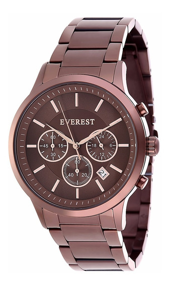 Everest Relógio Masculino Aço 05 Á Prova D´agua C Garantia