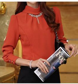 Blusa Camisa Feminina Bordado Social Elegante Princesa Branc
