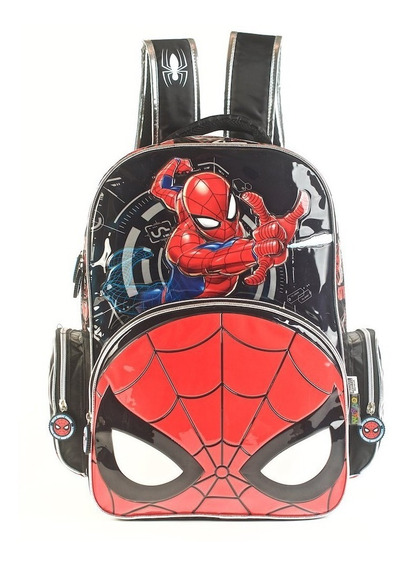Mochila Espalda Spiderman 3d 17 Plgads Primaria Cuotas