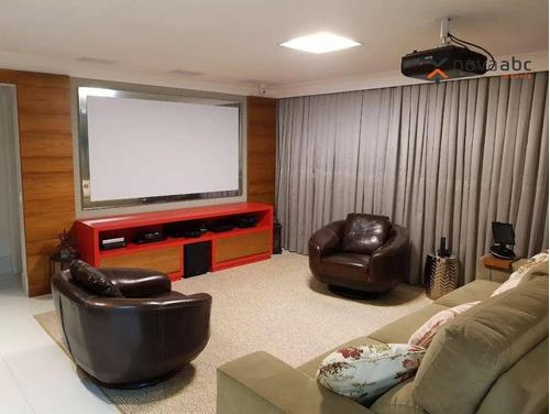 Imagem 1 de 13 de Apartamento Com 3 Dormitórios À Venda, 144 M² Por R$ 1.622.000,00 - Campestre - Santo André/sp - Ap1926