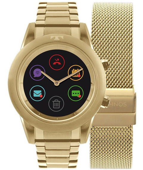 Relógio Masculino Technos Connect Duo P01ac/4p