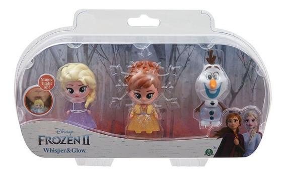 Frozen 2 Whisper & Glow Pack De 3 Figuras Con Luces Original