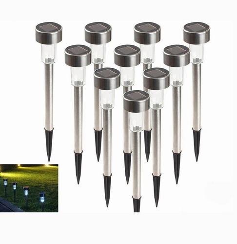 Imagen 1 de 10 de Lámpara Luz Solar Jardín Decoración Impermeables 10pc