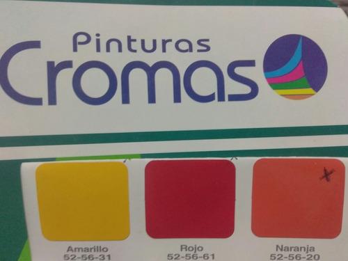 Pintura Esmalte Sintetico Naranja 1/4 Galon Cromas Clase A