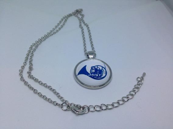 Collar Con Dije Corno Frances Azul - Himym