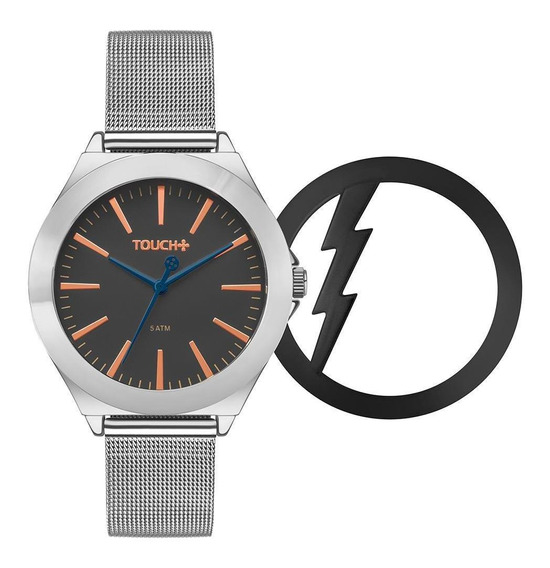 Relógio Unissex Touch Raio Prata - Original