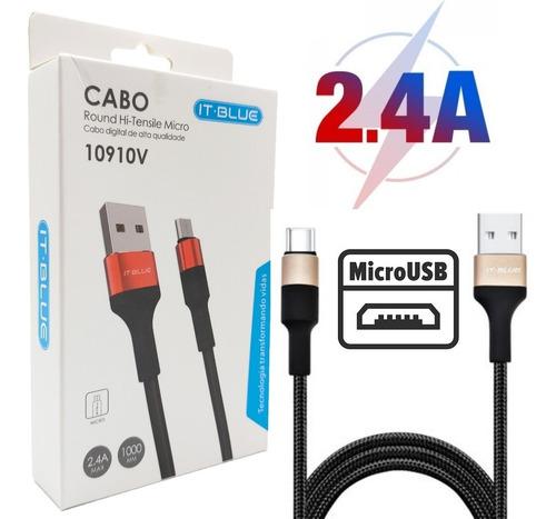 Imagem 1 de 3 de Cabo Carregador Turbo Micro Usb