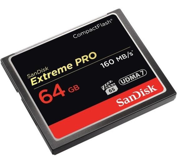 Cartão De Memória Cf Sandisk Extreme Pro 64gb 160mb/s