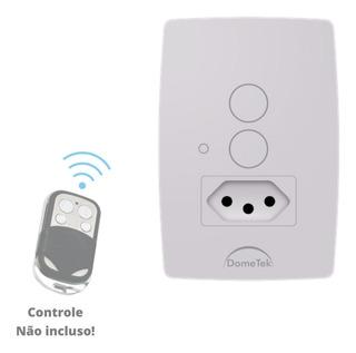 Interruptor Touch Sense 2 Pad + 1 Tomada 10a Rf 433mhz