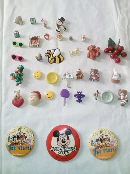 Botones Antiguos DisneyPrendedores Vintage Disney