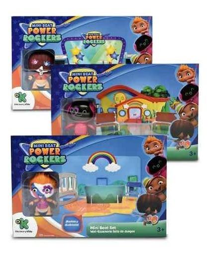 Muñecos Articulados Mini Beat Power Rockers Con Escenario 3