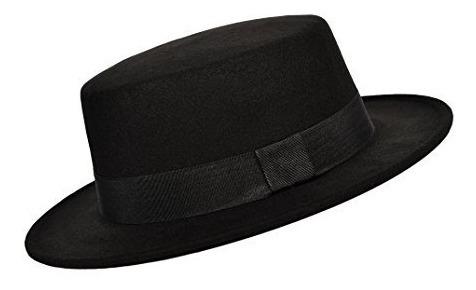 Partido Mucho Botero Sombrero De Fieltro De Ala Plana Con
