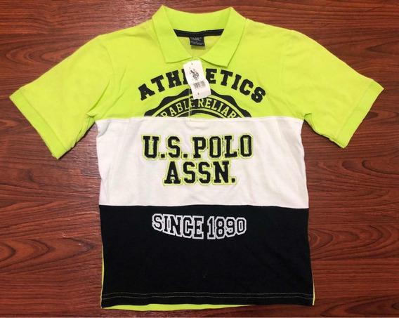 Playera Cuello Polo U.s Polo Assn Nueva Para Niño Original