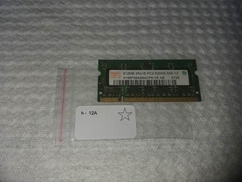 Memória Notebook 512mb Pc2-5300s 555 12 4200s 444 Ddr2 Hynix Samsung Smart