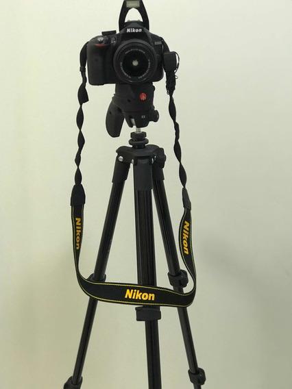 Nikon D3300 Com Kit De Lente Adicional, Bolsa E Tripe