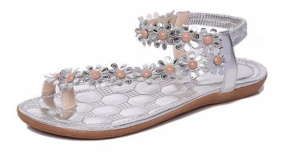 Sandálias Femininas Salto Baixo De Verão Peep Toe