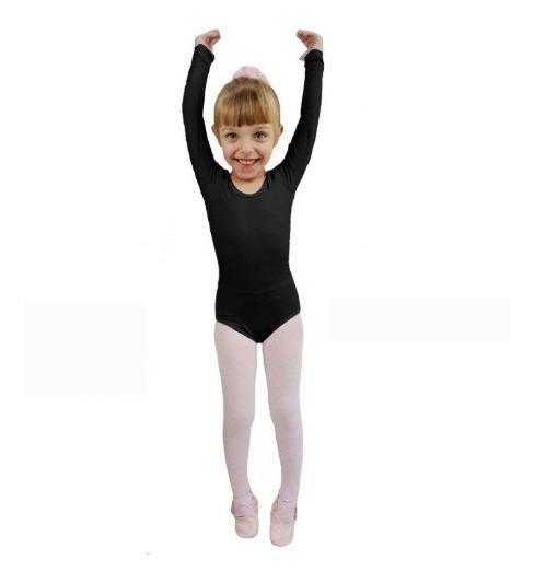 Collant Manga Comprida - Ballet Dança - Capezio Infantil