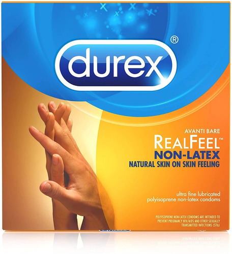 Pack 8 Condones Durex Sin Latex Avanti Bare Antialergico W01