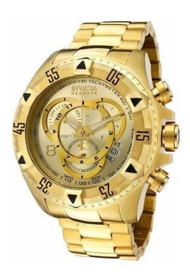 Relógio Invicta 14473 6471 Reserve Banhado A Ouro 18k