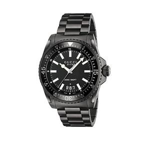 b10fca29b2b3c Reloj Gucci Reloj De Buceo Para Hombres Cristal De Zafiro