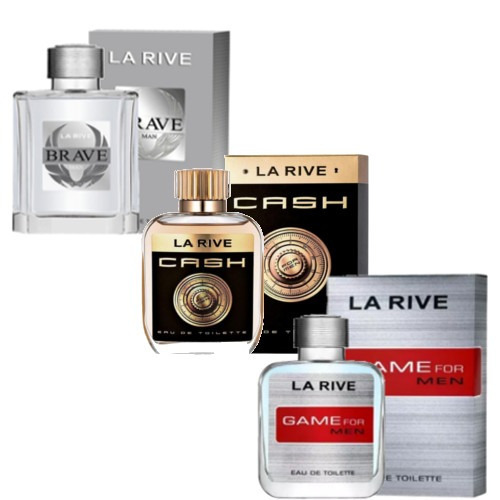 Kit De 3 Perfumes Cash M, Brave, Game La Rive Masculino