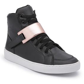 aa5bf590fd4 Bota Tênis Feminino Top Franca Shoes Branco Skatista Cano Al