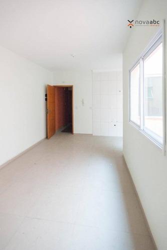 Apartamento Com 2 Dormitórios À Venda, 50 M² Por R$ 255.000 - Vila Camilópolis - Santo André/sp - Ap0957