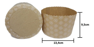 Forma Italiana Panetone 500g 100% Biodegradável Fiori 25un
