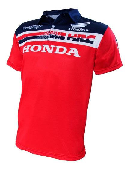 Chomba Drifit Honda Troy Lee Designs Hrc Talle Grandes 2y3xl
