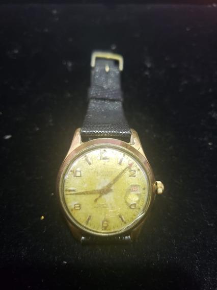 Relógio De Pulso Masculino Plaquê De Ouro Mondaine A Corda