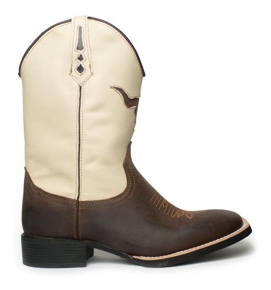 Botas Texana Americana Rodeio Country Cano Longo 100% Couro
