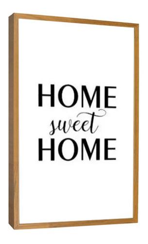 Quadro Decorativo Fases Home Sweet Home Preto E Branco Sala