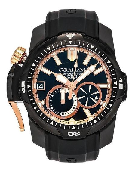 Relogio Graham Chronofighter Prodive Detalhes 18k Ouro Rose