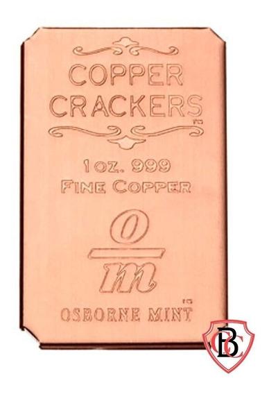 Barra De Cobre Pura 999 1 Onça Avdp Copper Cracker Fc