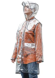 Capa De Chuva Kesttou Plástico Transparente Impermeável Ck01