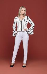 Calça Branca Forrada Alfaiataria Smel Original Lançamento